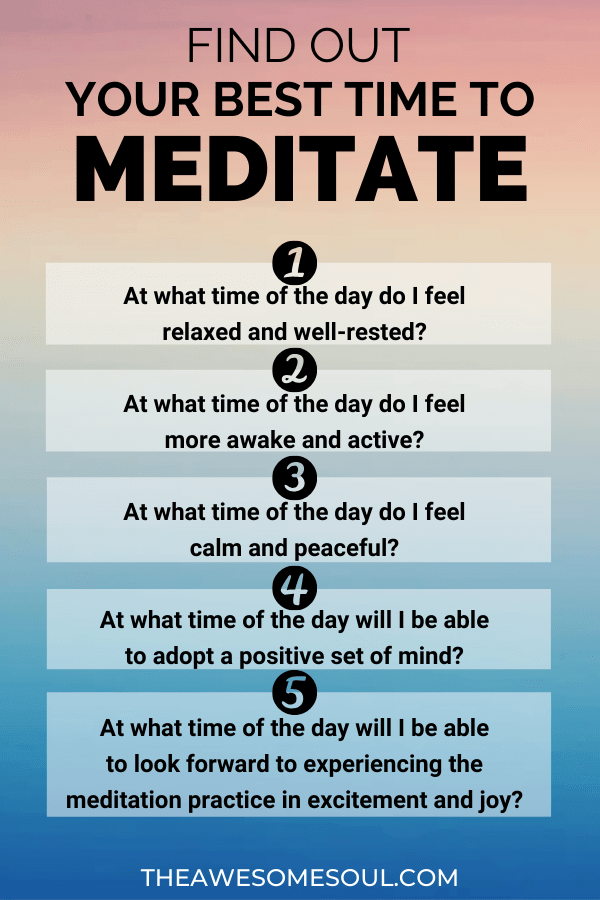 Find Out Your Best Time To Meditate With 5 Questions