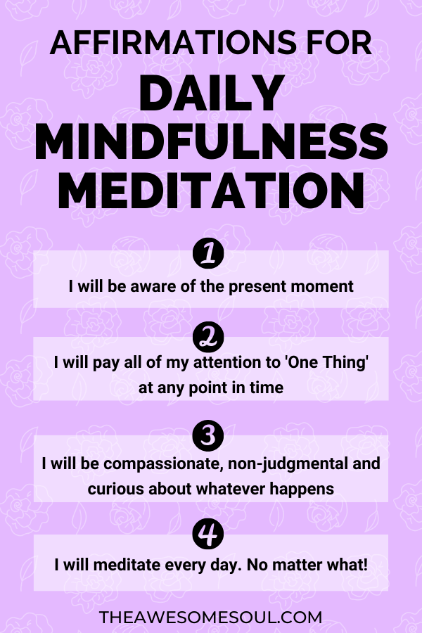 Begin Mindfulness Meditation: A Beginner's Guide To All You Need To Know With A Step By Step Guide - Affirmations