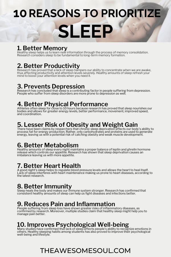 10 Reasons Why Sleep is Important and Tips to Sleep Well - Info1