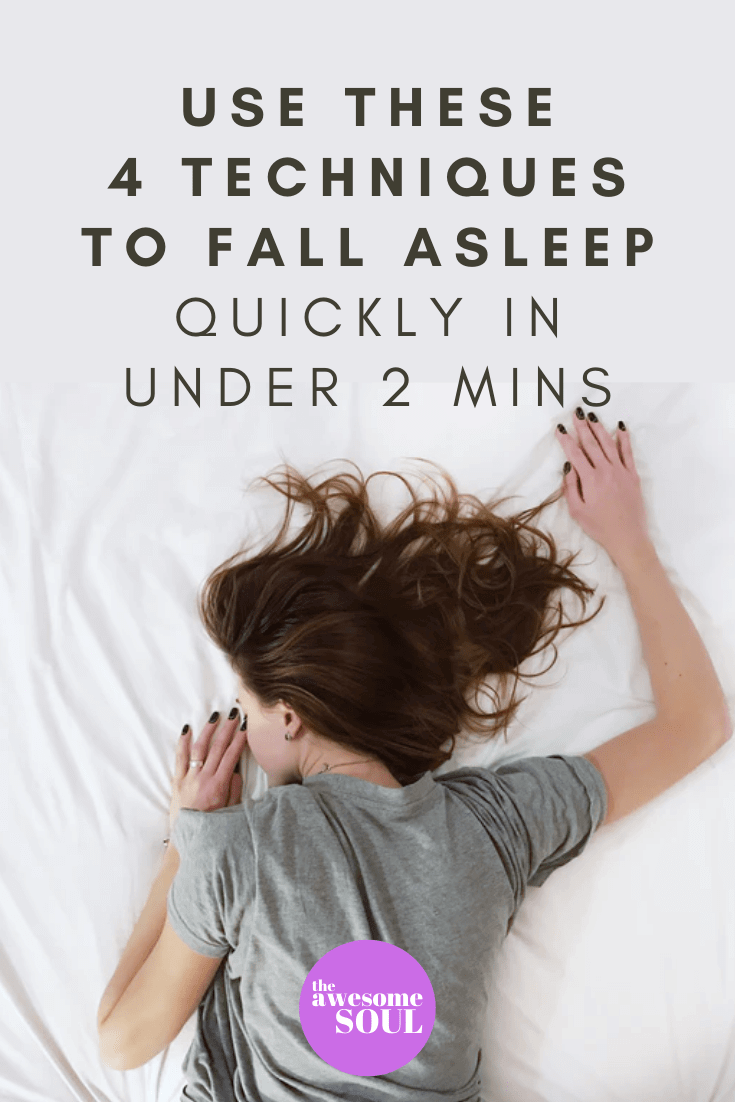 Fall Asleep Quickly With 4 Techniques in Under 2 Minutes - pin