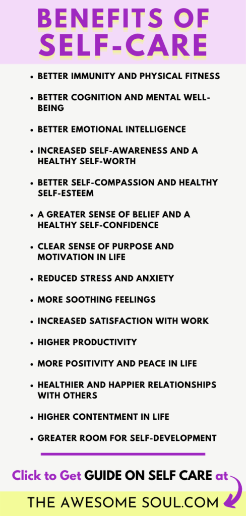 Self-Care Guide: What it really MEANS and Why is it IMPORTANT - Benefits of Self-care - pin
