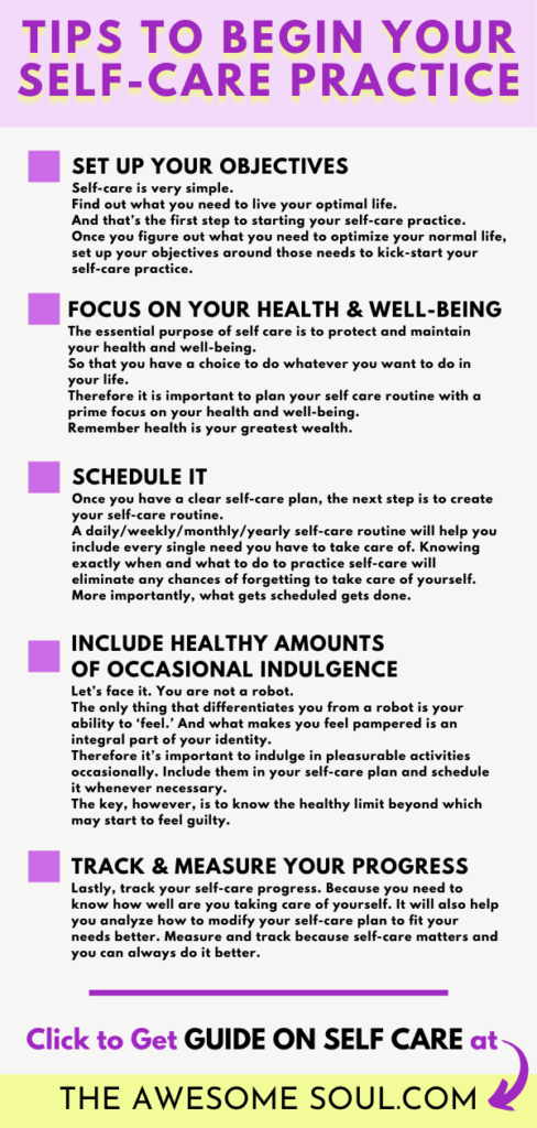 Self-Care Guide: What it really MEANS and Why is it IMPORTANT - Tips to Begin Self-Care Practice - pin