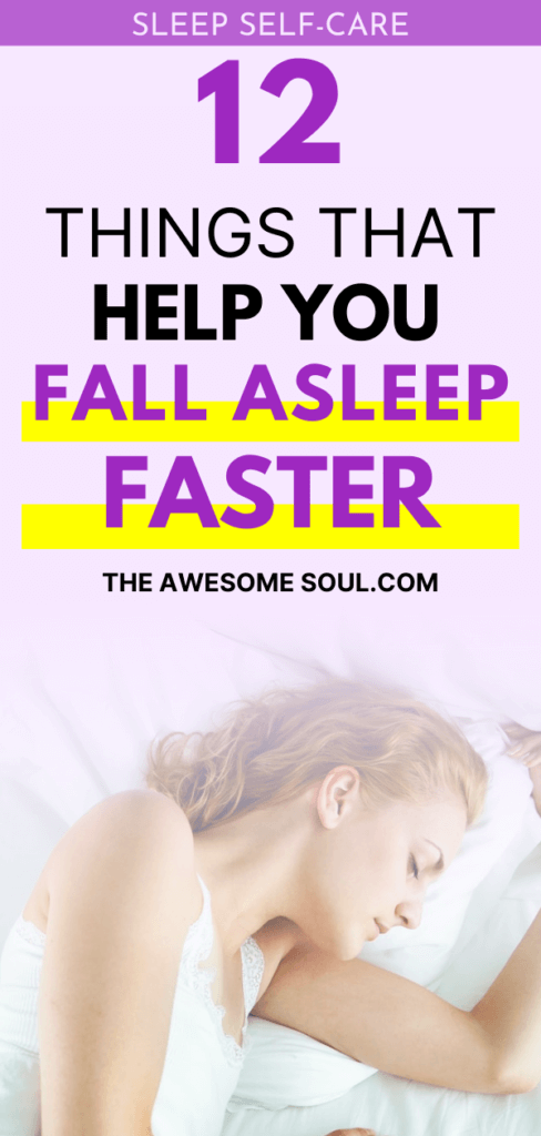 12 Things To Help You Fall Asleep Faster - Pin